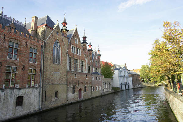 Old Town Art Print featuring the photograph Canal In The Old Town Of Brugge by Christof Koepsel