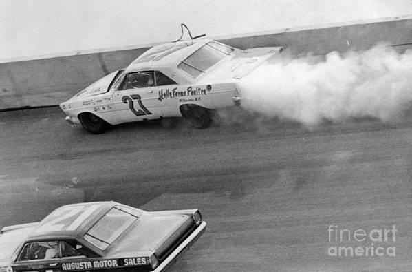 Professional Sport Art Print featuring the photograph Car Crash During Daytona 500 by Bettmann