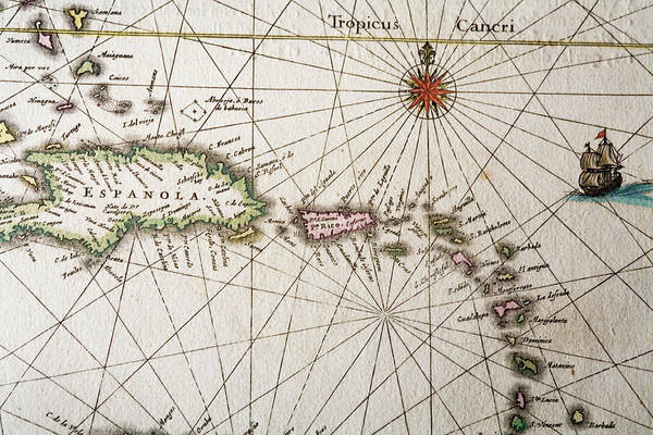 Engraving Art Print featuring the digital art Carribean Islands by Goldhafen