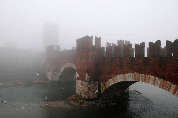 Arch Art Print featuring the photograph Castelvecchio Bridge by Stefano Zuliani Photo