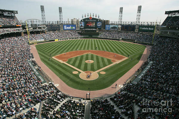 American League Baseball Art Print featuring the photograph Celeveland Indians V Chicago White Sox by Jonathan Daniel