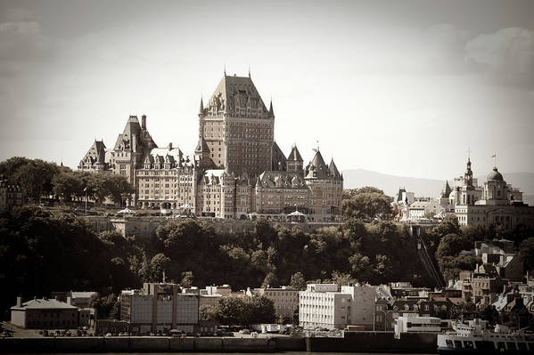 Copper Art Print featuring the photograph Chateau Frontenac From Levis, Quebec by Onfokus