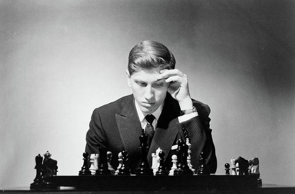 Chess Art Print featuring the photograph Chess Champion Robert J. Fisher Playing by Carl Mydans