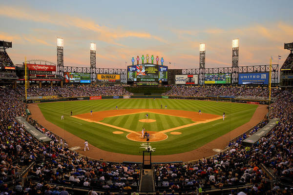 American League Baseball Art Print featuring the photograph Chicago Cubs V Chicago White Sox by Ron Vesely