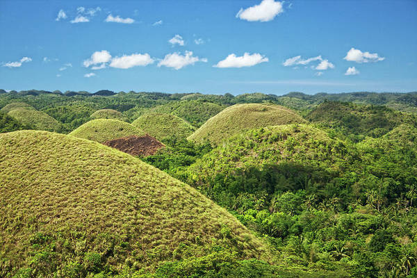 Scenics Art Print featuring the photograph Chocolate Hills In Bohol by Photography By Jeremy Villasis. Philippines.