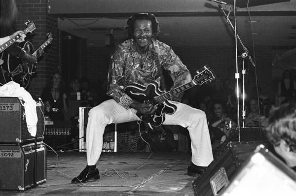 1980-1989 Art Print featuring the photograph Chuck Berry Performs Live by Richard Mccaffrey