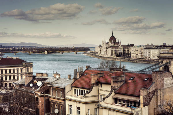 Tranquility Art Print featuring the photograph Cityscape Of Budapest by By Matthew Heptinstall