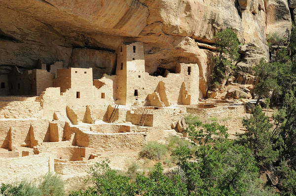 Mesa Verde National Park Art Print featuring the photograph Cliff Palace In Mesa Verde, Colorado by Sshepard