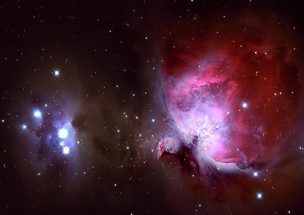 Natural Gas Art Print featuring the photograph Closeup Of The Great Orion Nebula by Manfred konrad