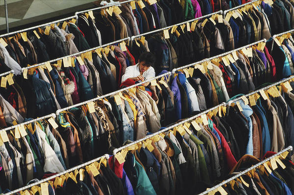 People Art Print featuring the photograph Coat Check by Alfred Gescheidt