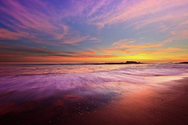 Scenics Art Print featuring the photograph Color Splash At Sunset, Laguna Beach by Eric Lo