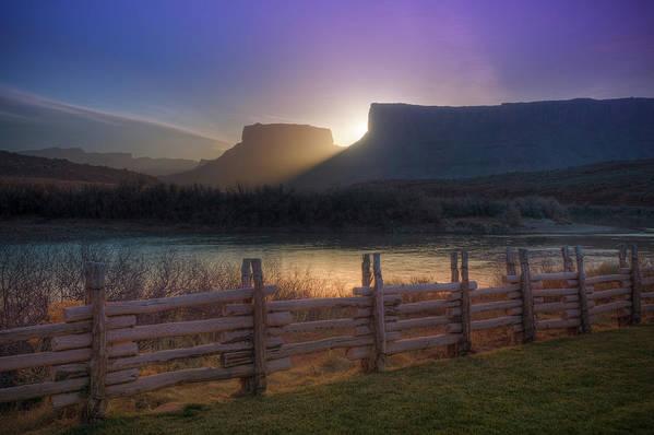 Scenics Art Print featuring the photograph Colorado River Sunrise, Moab, Utah, Usa by Fotomonkee