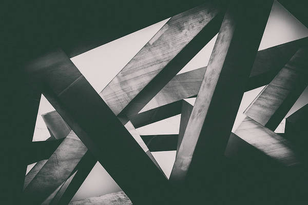 Shadow Art Print featuring the photograph Concrete Pillars by Lordrunar