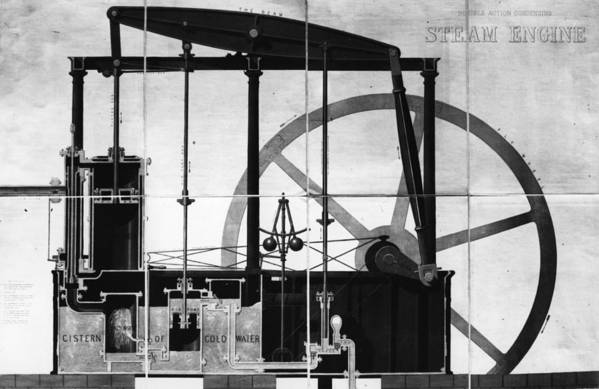 Road-going Steam Engine Art Print featuring the digital art Condensing by Hulton Archive