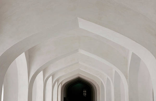 Tranquility Art Print featuring the photograph Corridor In Amer Fort, Rajasthan, India by Cultura Exclusive/karen Fox