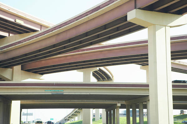 Crisscross Art Print featuring the photograph Crisscrossing Freeway Overpasses by Siri Stafford