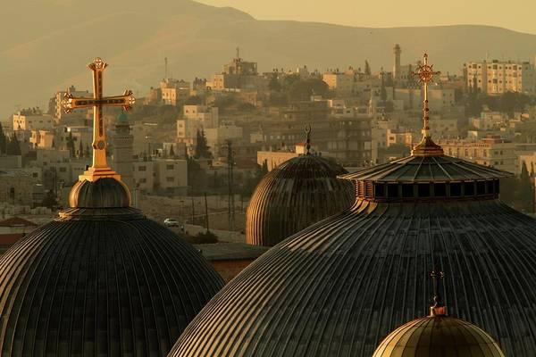 West Bank Art Print featuring the photograph Crosses And Domes In The Holy City Of by Picturejohn