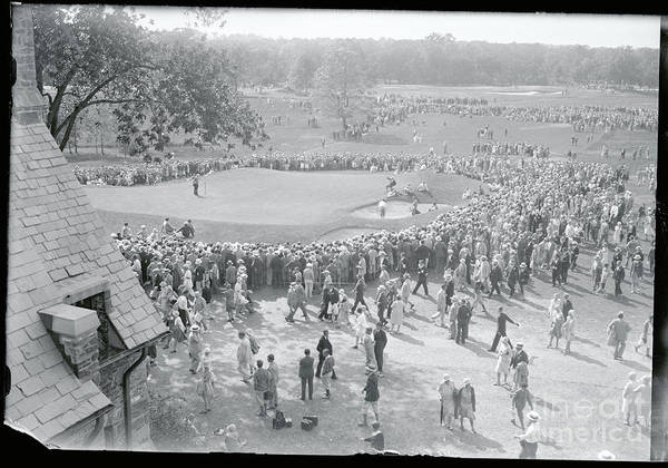 Crowd Of People Art Print featuring the photograph Crowd Watching Bobby Jones During Golf by Bettmann
