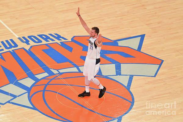 Nba Pro Basketball Art Print featuring the photograph Dallas Mavericks V New York Knicks by Jesse D. Garrabrant