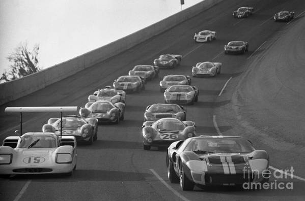 Chaparral Art Print featuring the photograph Daytona 24 Hour Endurance Auto Race by Bettmann