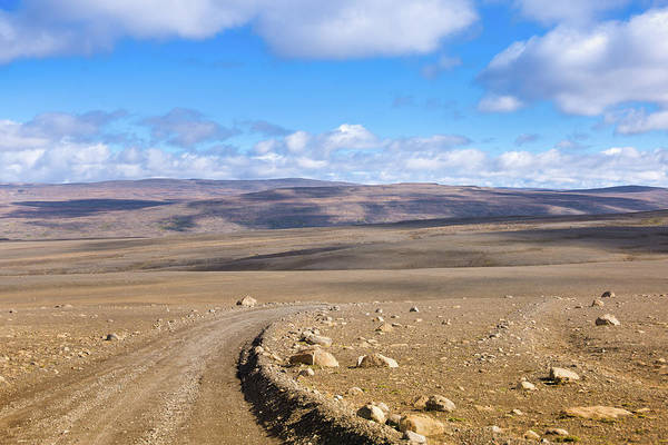 Scenics Art Print featuring the photograph Dirt Road Sprengisandur Central Iceland by Mlenny