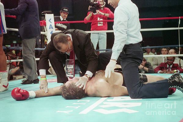 People Art Print featuring the photograph Doctor Checks Gerry Cooney Who Is Kod by Bettmann