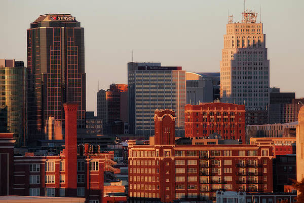 Downtown District Art Print featuring the photograph Downtown Kansas City by Eric Bowers Photo