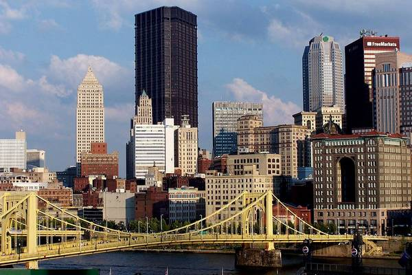 Downtown District Art Print featuring the photograph Downtown Pittsburgh Panorama From Pnc by Photo By Paul D. Toth