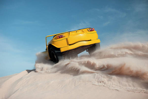 Dust Art Print featuring the photograph Driving On Sand, Jericoacoara, Brazil by Tunart