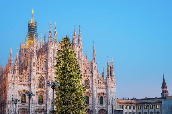 Gothic Style Art Print featuring the photograph Duomo Di Milano At Christmas by Mmac72