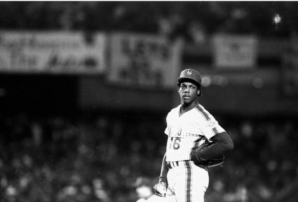 Dwight Gooden Art Print featuring the photograph Dwight Goodens First World Series Game by New York Daily News Archive
