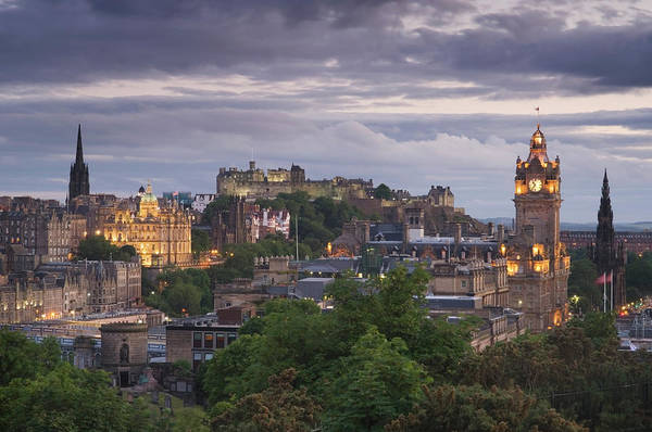Lothian Art Print featuring the photograph Edinburgh At Dusk by Northlightimages