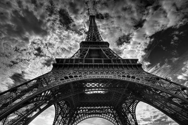 Arch Art Print featuring the photograph Eiffel Tower by Allen Parseghian