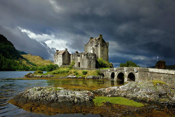 Outdoors Art Print featuring the photograph Eilean Donan Castle, Scotland by Daryl Benson