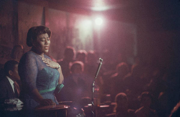 Ella Fitzgerald Art Print featuring the photograph Ella Fitzgerald Performs by Yale Joel