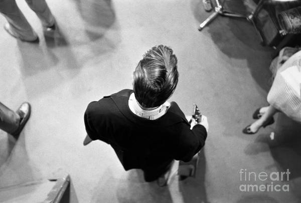 Singer Art Print featuring the photograph Elvis Backstage by Alfred Wertheimer