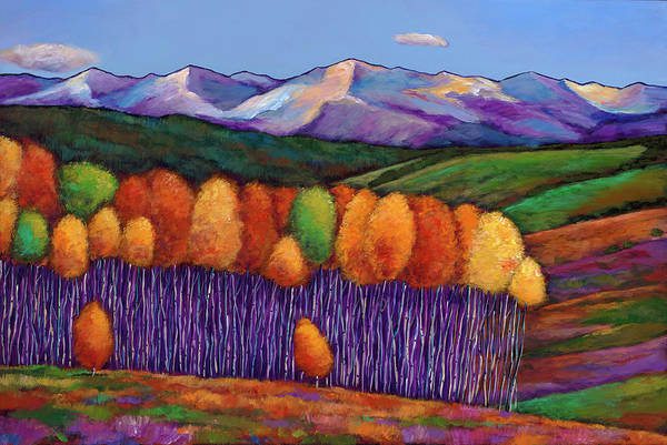 Aspen Trees Art Print featuring the painting Elysian by Johnathan Harris