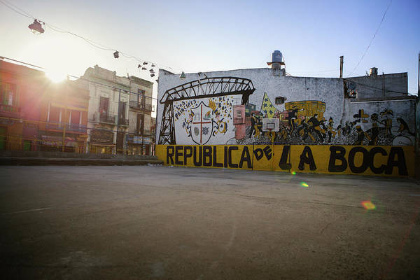 Empty Art Print featuring the photograph Empty Soccer Field In La Boca by Just One Film