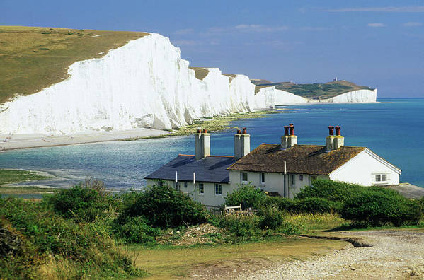 Scenics Art Print featuring the photograph England, Sussex, Seven Sisters Cliffs by David C Tomlinson