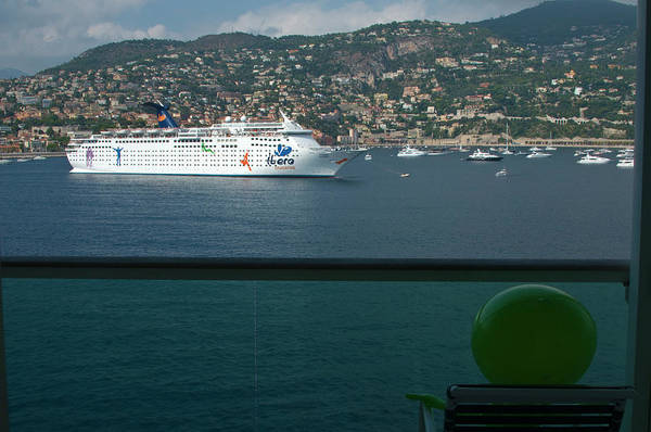 Boat Art Print featuring the photograph Enjoying The French Riviera View by Richard Henne