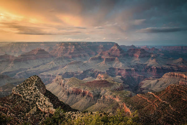Majestic Art Print featuring the photograph Epic Sunset Over Grand Canyon South Rim by Wayfarerlife Photography