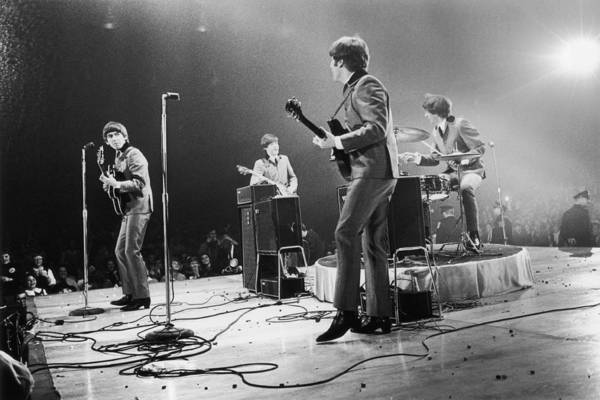 Singer Art Print featuring the photograph Fab Four Stateside by Central Press