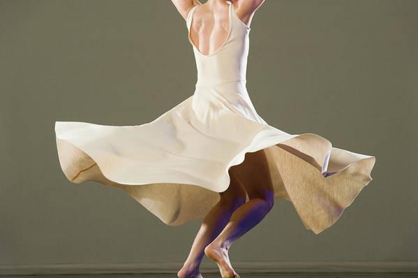 Ballet Dancer Art Print featuring the photograph Female Ballet Dancer Dancing by Erik Isakson