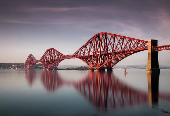 Built Structure Art Print featuring the photograph Forth Rail Bridge by Jon Wild