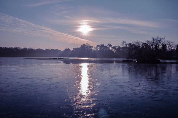 Lake Art Print featuring the photograph Frozen by Claire Lowe