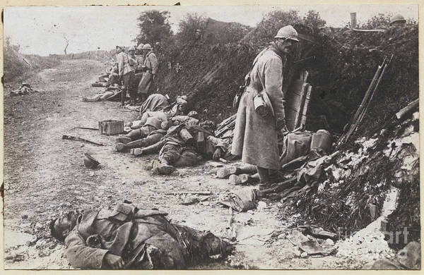 People Art Print featuring the photograph German And French Casualties by Bettmann
