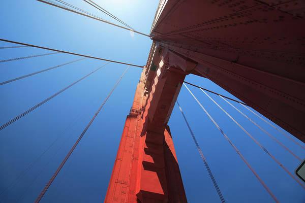 San Francisco Art Print featuring the photograph Golden Gate Bridge Tower by Mortonphotographic