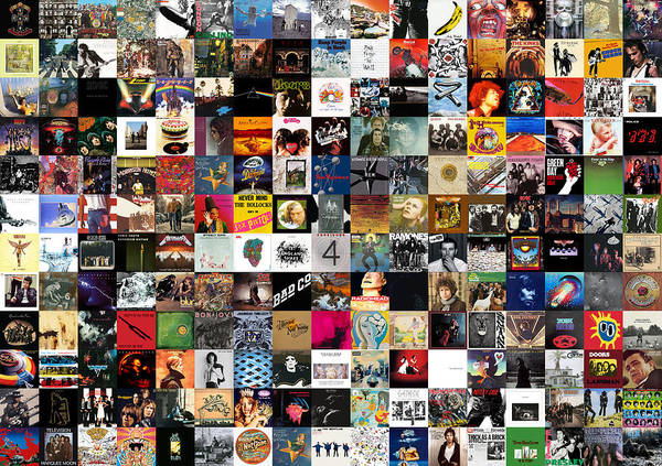 Album Covers Art Print featuring the digital art Greatest Rock Albums of All Time by Zapista OU