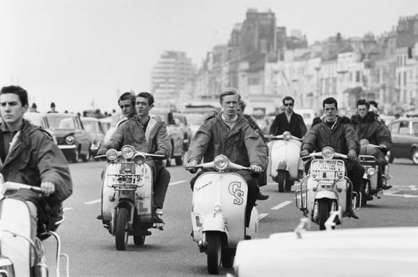 People Art Print featuring the photograph Hastings Mods by Terry Fincher