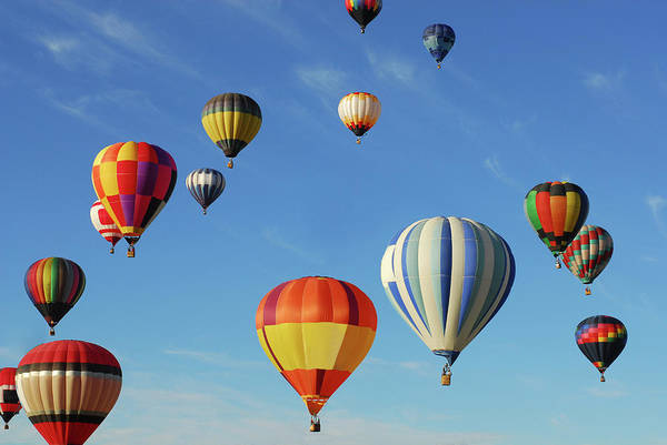 New Mexico Art Print featuring the photograph Hot Air Balloons by Sjlayne